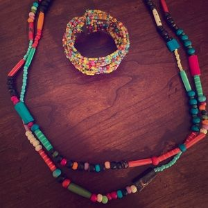 Colorful Necklace and Bracelet